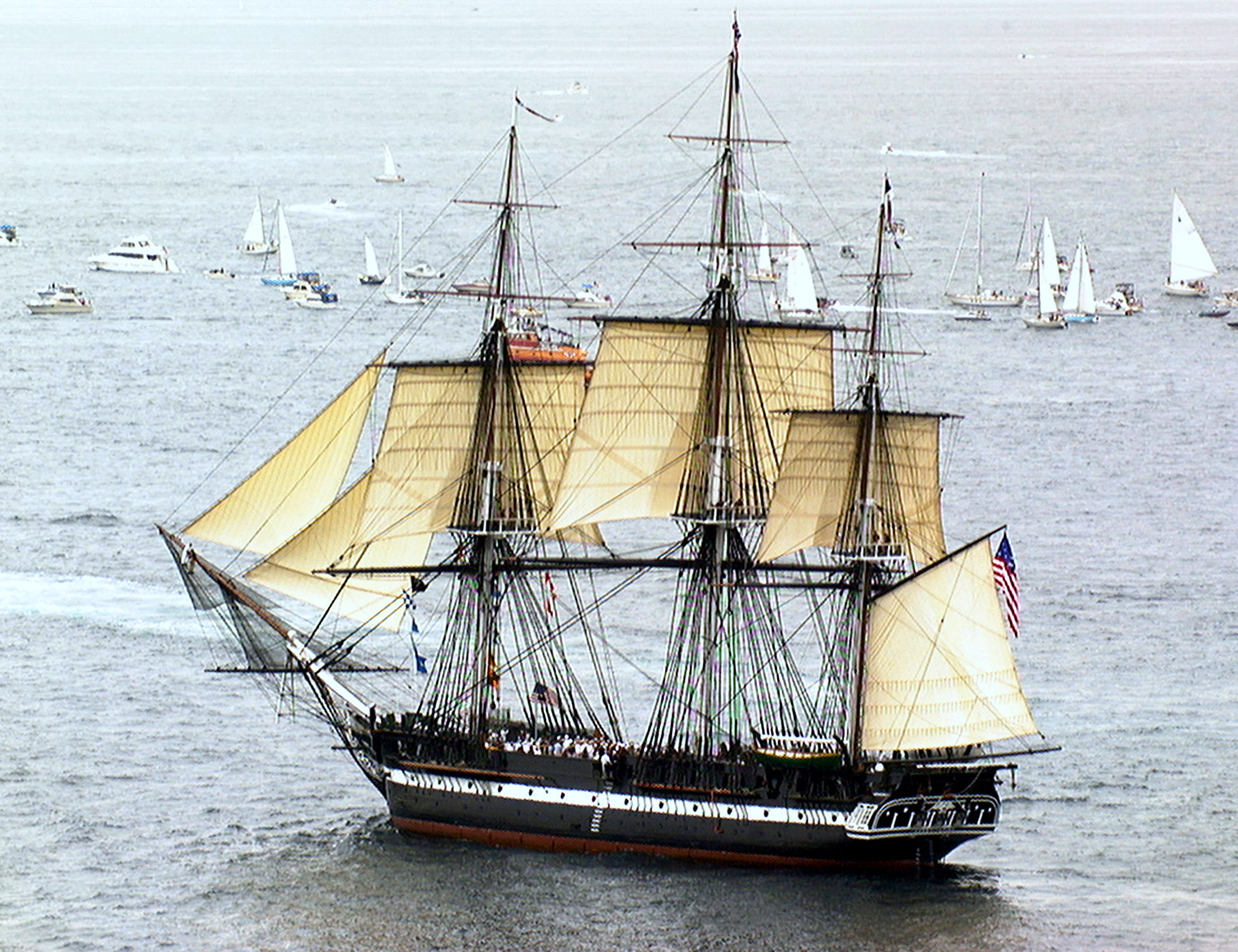 USS CONSTITUTION UNDERWAY FOR THE FIRST TIME IN 116 YEARS